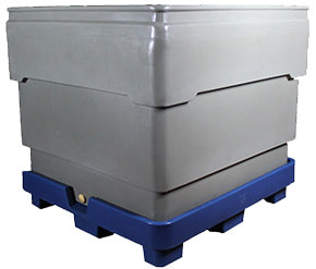 BSP Series bins. Bin nested on pallet.