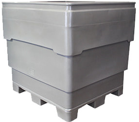 FBPW series bins. Flat bottom bins with welded on replaceable pallet.